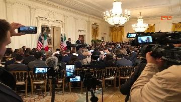 4 - Trump e Conte in conferenza stampa alla Casa Bianca