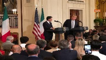 11 - Trump e Conte in conferenza stampa alla Casa Bianca
