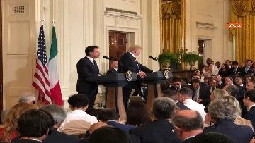 13 - Trump e Conte in conferenza stampa alla Casa Bianca
