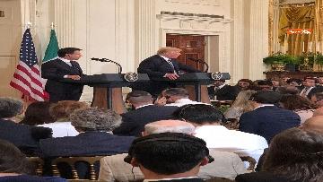 6 - Trump e Conte in conferenza stampa alla Casa Bianca
