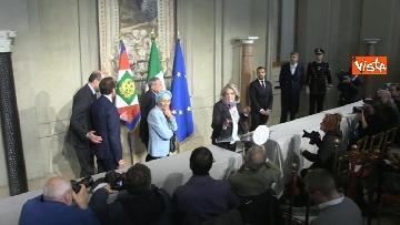 8 - Il gruppo Misto del Senato al Quirinale, Grasso, Bonino, De Petris e Nencini in conferenza stampa