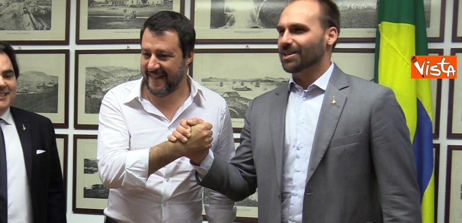 Incontro tra Salvini e E. Bolsonaro