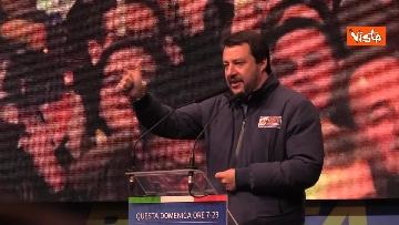 3 - Salvini, Meloni e Berlusconi chiudono la campagna elettorale in Emilia-Romagna a Ravenna, le immagini