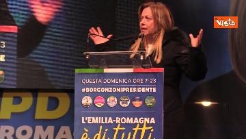 13 - Salvini, Meloni e Berlusconi chiudono la campagna elettorale in Emilia-Romagna a Ravenna, le immagini