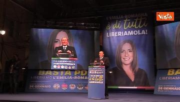 12 - Salvini, Meloni e Berlusconi chiudono la campagna elettorale in Emilia-Romagna a Ravenna, le immagini