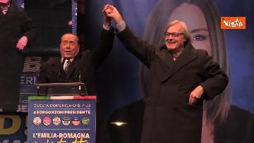 10 - Salvini, Meloni e Berlusconi chiudono la campagna elettorale in Emilia-Romagna a Ravenna, le immagini