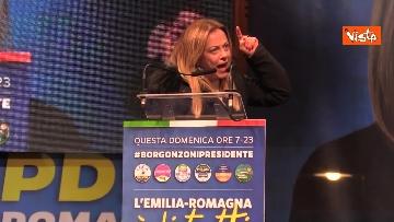 14 - Salvini, Meloni e Berlusconi chiudono la campagna elettorale in Emilia-Romagna a Ravenna, le immagini