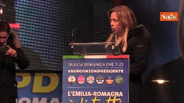 15 - Salvini, Meloni e Berlusconi chiudono la campagna elettorale in Emilia-Romagna a Ravenna, le immagini