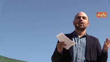 3 - Il comizio dello scrittore Roberto Saviano a parco Sempione a Milano