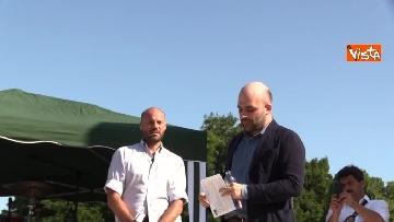 8 - Il comizio dello scrittore Roberto Saviano a parco Sempione a Milano