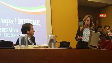 4 - Meloni presenta patto federativo con Direzione Italia