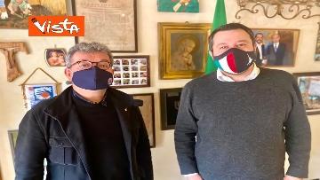 3 - Spirlì a Roma incontra Salvini per parlare di vaccini e infrastrutture, le immagini
