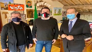 2 - Spirlì a Roma incontra Salvini per parlare di vaccini e infrastrutture, le immagini