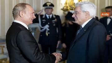 1 - Mattarella riceve Putin in visita ufficiale al Quirinale