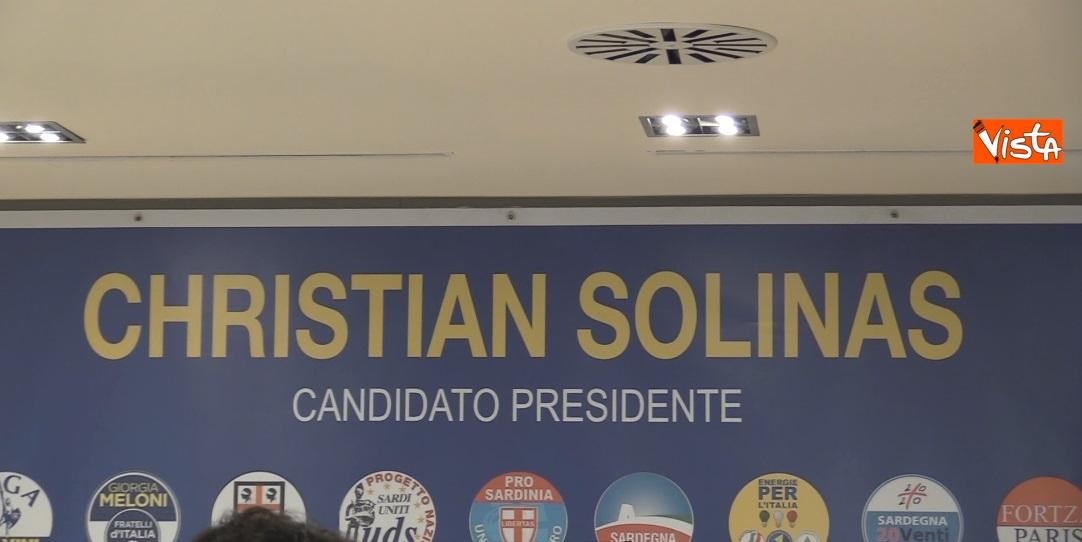 Il comitato del neo presidente della Regione Sardegna Christian Solinas