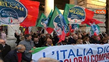 9 - Migranti, 'No Global compact' la manifestazione di FdI con Meloni
