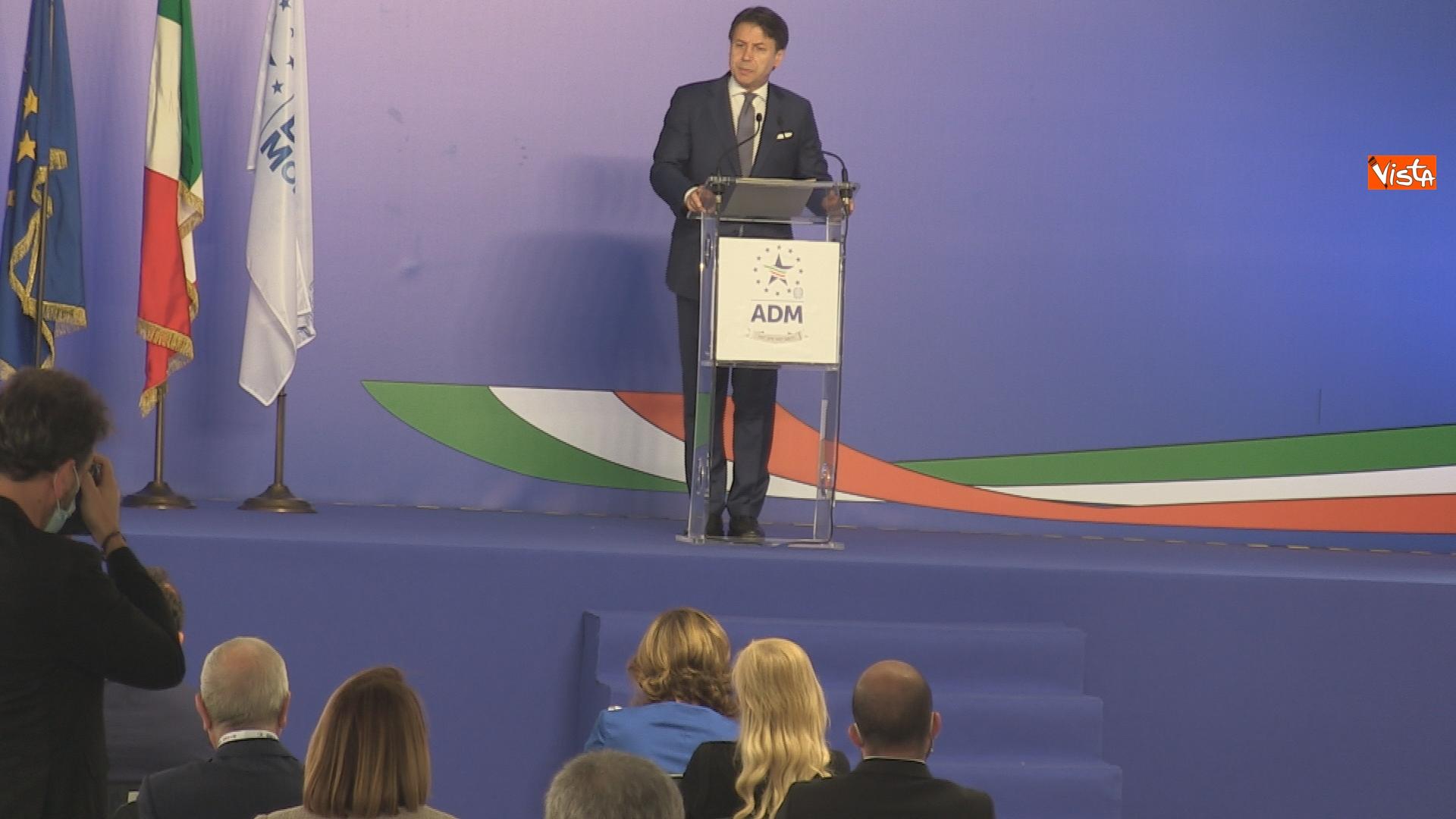 Un momento del'intervento del presidente del Consiglio Giuseppe Conte_02