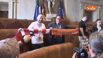 1 - Roma - Liverpool tifosi inglesi in Aula Giulio Cesare