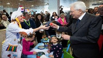 6 - Mattarella in visita all'Ospedale prediatrico Bambin Gesù di Roma per i 150 anni della Fondazione