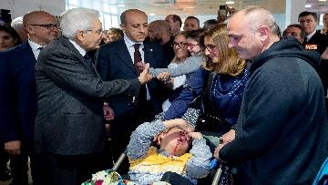 9 - Mattarella in visita all'Ospedale prediatrico Bambin Gesù di Roma per i 150 anni della Fondazione