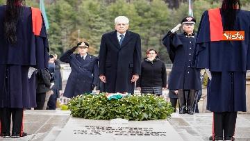 1 - Il Presidente Mattarella al 75esimo anniversario della battaglia di Monte Lungo