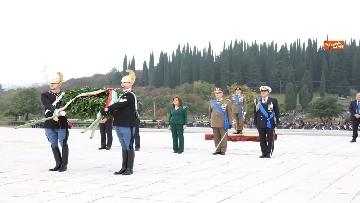 2 - 4 novembre, Casellati depone corona d'alloro al Sacrario militare di Redipuglia