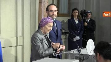 8 - Consultazioni, Gruppo Misto Senato con Bonino e Nencini a margine del colloquio con Mattarella