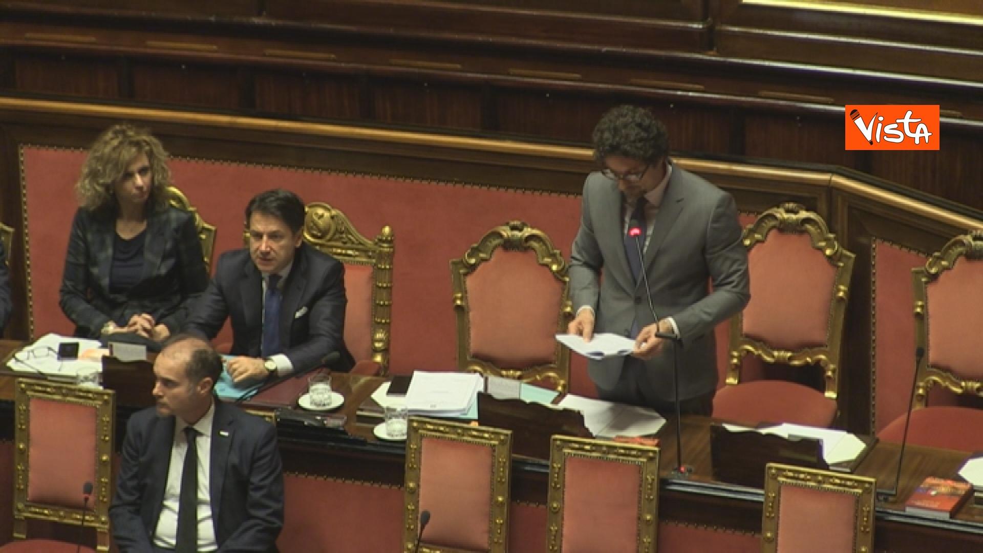 21-03-19 Mozione sfiducia per Toninelli al Senato le immagini dell Aula_il ministro durante il suo intervento 05