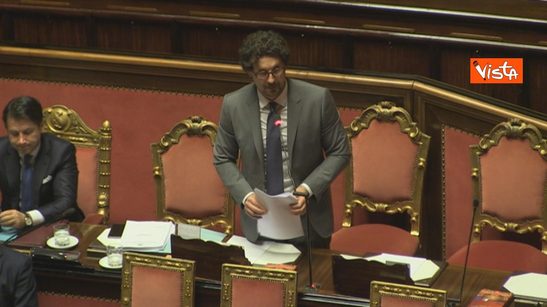 21-03-19 Mozione sfiducia per Toninelli al Senato le immagini dell Aula_il ministro durante il suo intervento 04
