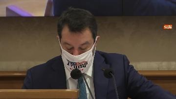 8 - Coronavirus, la conferenza stampa della Lega al Senato con Salvini e Siri