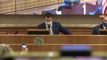 7 - Coronavirus, la conferenza stampa della Lega al Senato con Salvini e Siri