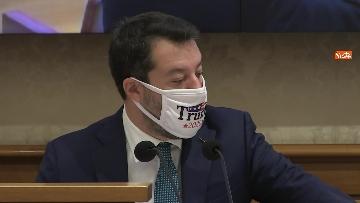 9 - Coronavirus, la conferenza stampa della Lega al Senato con Salvini e Siri