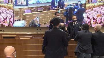 3 - Coronavirus, la conferenza stampa della Lega al Senato con Salvini e Siri