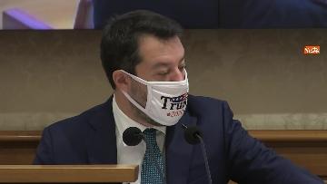 10 - Coronavirus, la conferenza stampa della Lega al Senato con Salvini e Siri