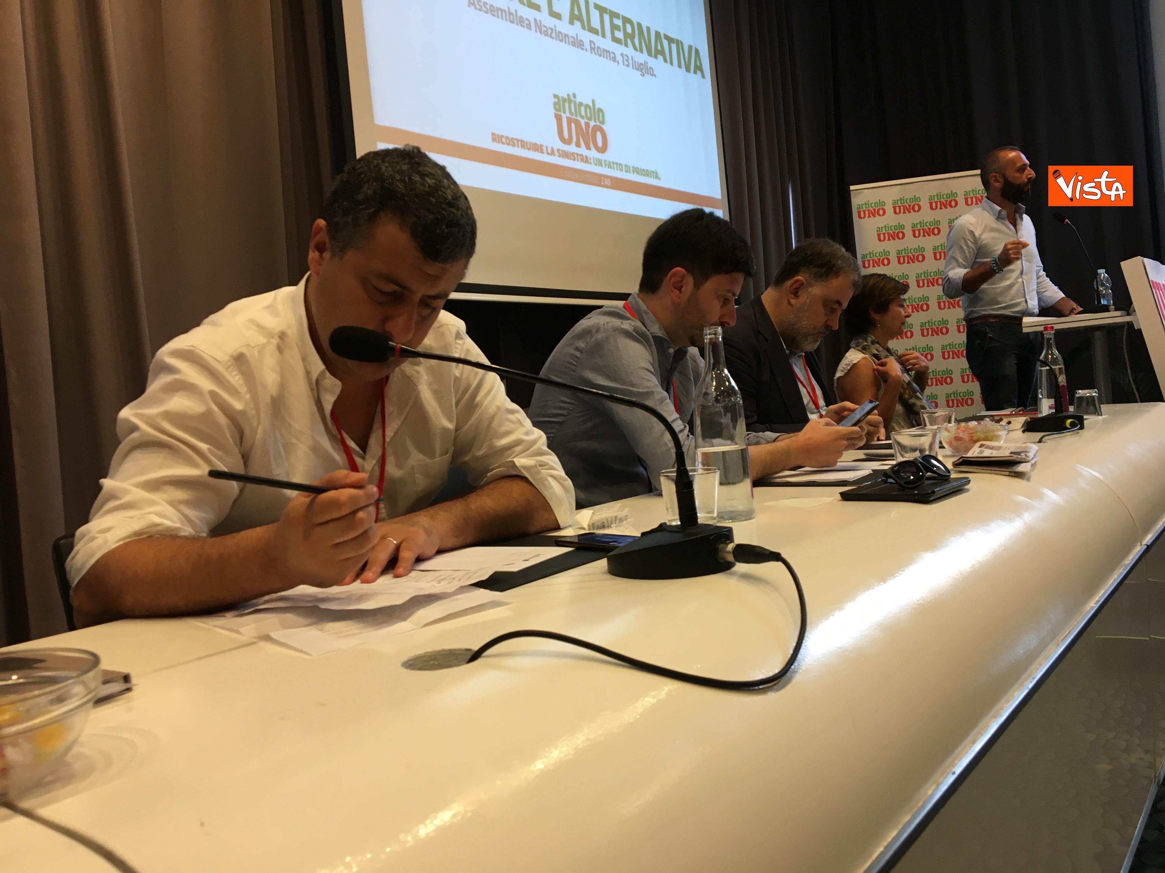 13-07-19 Articolo Uno l Assemblea nazionale a Roma immagini_In primo piano Arturo Scotto 08