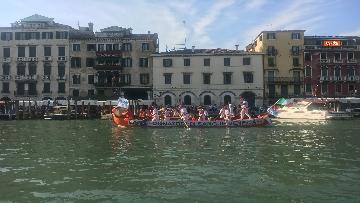 12 - Il giorno della 'Regata Storica' a Venezia, il tradizionale corteo di barche in Canal Grande