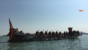 3 - Il giorno della 'Regata Storica' a Venezia, il tradizionale corteo di barche in Canal Grande