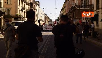 6 - Manifestazione Loreto, Rete anarchica milanese in corteo lungo via Padova
