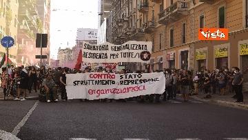 4 - Manifestazione Loreto, Rete anarchica milanese in corteo lungo via Padova