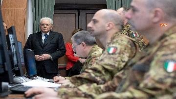 9 - Mattarella visita il contingente impegnato nell'Operazione Strade Sicure