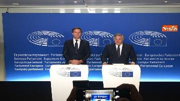7 - Tajani incontra Rutte a Strasburgo