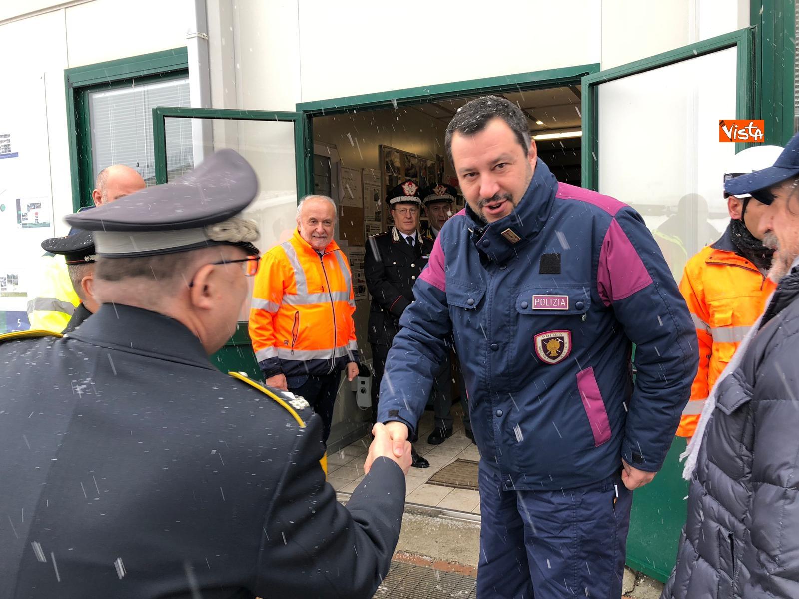 Il ministro Salvini a Chiomonte visita i cantieri Tav