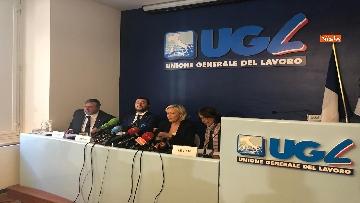 10 - Salvini, Le Pen in conferenza con il segretario UGL Capone