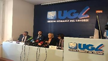 9 - Salvini, Le Pen in conferenza con il segretario UGL Capone