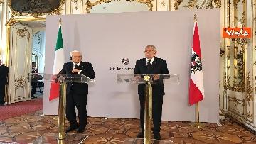 2 - La conferenza a Vienna con Mattarella ed il presidente austriaco Van der Bellen