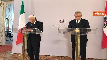 7 - La conferenza a Vienna con Mattarella ed il presidente austriaco Van der Bellen