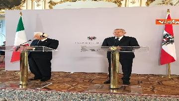 5 - La conferenza a Vienna con Mattarella ed il presidente austriaco Van der Bellen