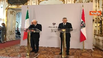 6 - La conferenza a Vienna con Mattarella ed il presidente austriaco Van der Bellen