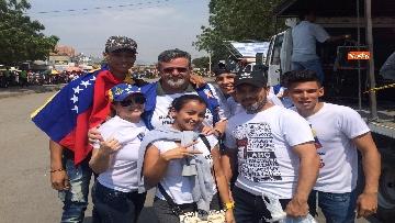 6 - Capone (Ugl) al confine tra Venezuela e Colombia per sostenere il popolo venezuelano