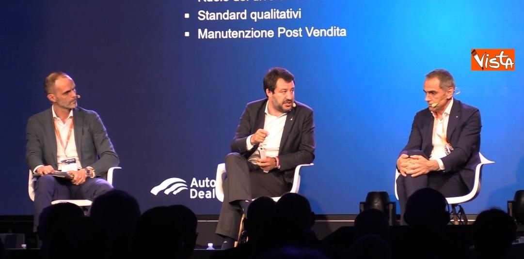 Salvini interviene all'Automotive Dealer Day a Verona